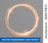 vector magic gold circle.... | Shutterstock .eps vector #383075815