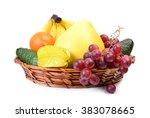 fresh fruit  | Shutterstock . vector #383078665