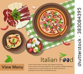 italian food. raster version. | Shutterstock . vector #383084395