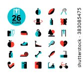 fitness icon set | Shutterstock . vector #383085475