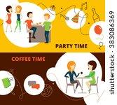 friends banners set | Shutterstock . vector #383086369