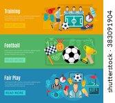 soccer banner set | Shutterstock . vector #383091904