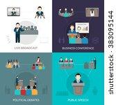 public speaking set | Shutterstock . vector #383095144