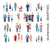family flat images set | Shutterstock . vector #383097301
