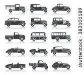 retro cars set | Shutterstock . vector #383101189