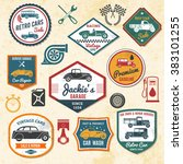 retro car labels | Shutterstock . vector #383101255