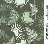 leaves of palm tree. seamless... | Shutterstock .eps vector #383102131