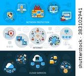 network security banner set | Shutterstock . vector #383102941