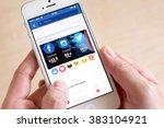 bangkok  thailand   february 26 ... | Shutterstock . vector #383104921