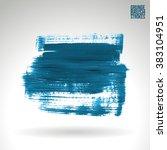 brush stroke and texture.... | Shutterstock .eps vector #383104951