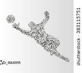 abstract geometric molecule... | Shutterstock .eps vector #383115751