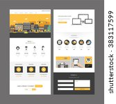 one page website design... | Shutterstock .eps vector #383117599