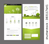 eco business one page website.
