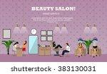 beauty salon interior vector... | Shutterstock .eps vector #383130031