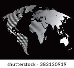stylized image of the world map....   Shutterstock .eps vector #383130919