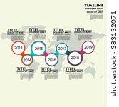 timeline vector infographic.... | Shutterstock .eps vector #383132071