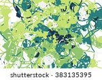 wide background with paint daub ... | Shutterstock .eps vector #383135395