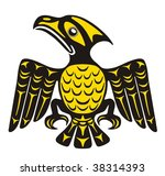 mythological image eagle vector | Shutterstock .eps vector #38314393