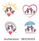 loving family icon set. | Shutterstock .eps vector #383150335