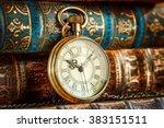 vintage antique pocket watch on ... | Shutterstock . vector #383151511