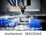 metalworking cnc milling... | Shutterstock . vector #383152465