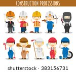 vector set of construction... | Shutterstock .eps vector #383156731