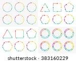 vector circle arrows set for... | Shutterstock .eps vector #383160229