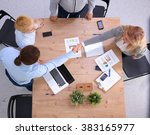image of business partners... | Shutterstock . vector #383165977