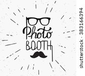 photo booth hand written design ... | Shutterstock .eps vector #383166394