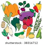 vegetables set | Shutterstock .eps vector #38316712