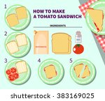 cooking infographics. step by... | Shutterstock .eps vector #383169025