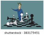 stock illustration. bob. funny... | Shutterstock .eps vector #383175451