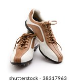 Ladies Golf Shoes Isolated On...