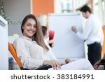 business people corporate... | Shutterstock . vector #383184991