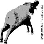 big horn sheep silphoette | Shutterstock .eps vector #383198161