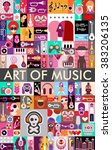 vector collage of various... | Shutterstock .eps vector #383206135