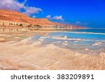 the evaporated salt forms... | Shutterstock . vector #383209891
