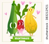 a set of cute vegetables.... | Shutterstock .eps vector #383212921