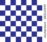 Modern Checkered Pattern Blue...