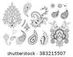 Set Of Decorative Paisley...