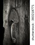 Old Barn Door With Rusty Handle
