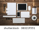 letterhead and identity design... | Shutterstock . vector #383219551