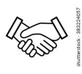 business agreement handshake... | Shutterstock .eps vector #383224057