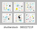 abstract trendy templates with... | Shutterstock .eps vector #383227219