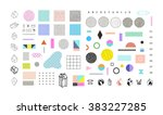 abstract trendy set with... | Shutterstock .eps vector #383227285