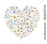 flowers  watercolor  composition | Shutterstock . vector #383230741