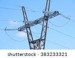 power transmission line... | Shutterstock . vector #383233321