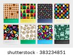 set of eight seamless pattern... | Shutterstock .eps vector #383234851