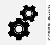 cogwheel  gear icon   Shutterstock .eps vector #383236789