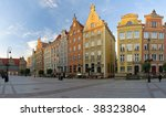 Long Market Square at dawn in Gdansk, Poland. - stock photo